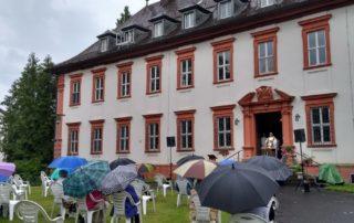 Gottesdienst im Schloss Kirchschönbach Juni 2020