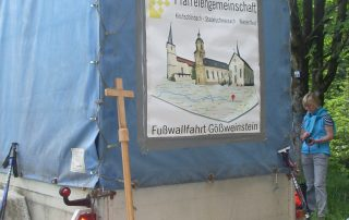 Fußwallfahrt nach Gößweinstein - Begleitfahrzeug
