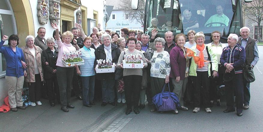 Frauen- und Mütterkreis Schwarzach on tour - hier beim Frühlingsausflug